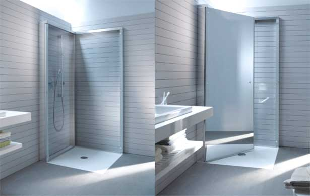 Sammenklappelig Brusekabine sparer plads i badeværelset