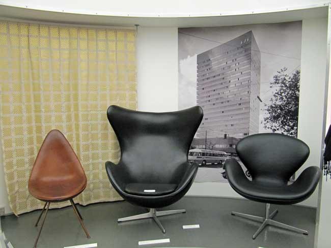 Arne Jacobsens Dråben, Svanen og Ægget