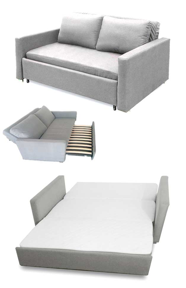 Denne overraskende sofa gemmer en dobbeltseng indeni