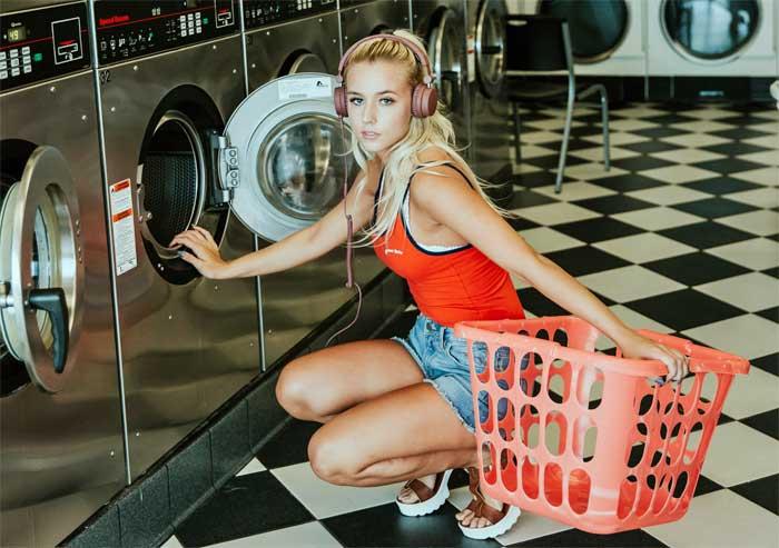 pige-vaskemaskine