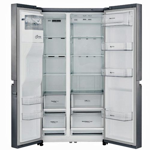 Amerikanerkøleskab med dobbelt dør