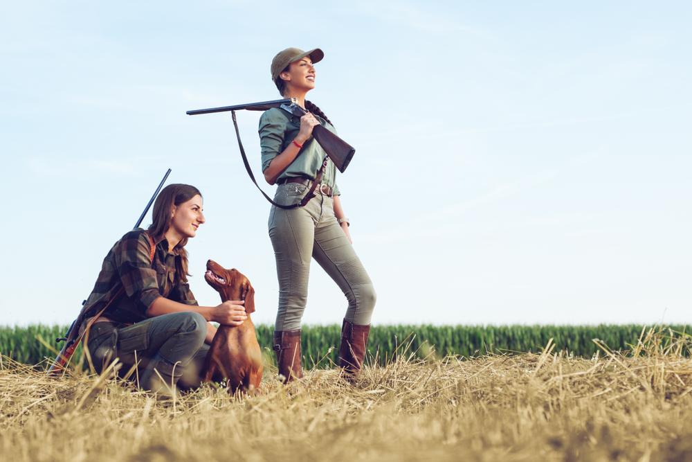 Flere kvinder tager jagttegn